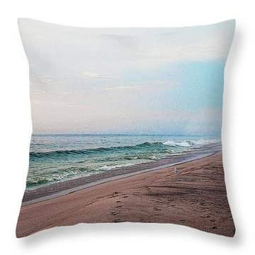 Beach Sentry Throw Pillow