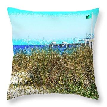 Beach Serenity Throw Pillow