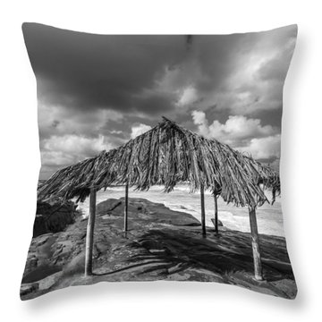 Brilliant Beach Shack Throw Pillow