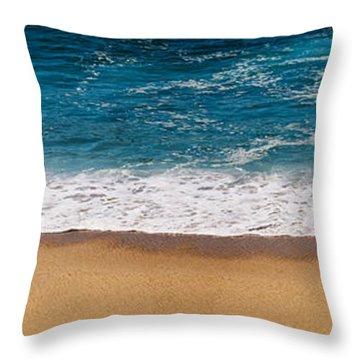 Beach Shoreline In Todos Santos, Baja Throw Pillow
