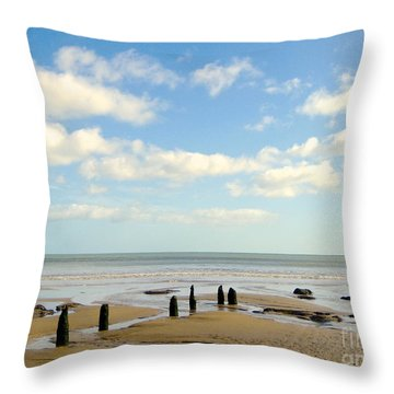 Beach Skies Throw Pillow by Suzanne Oesterling