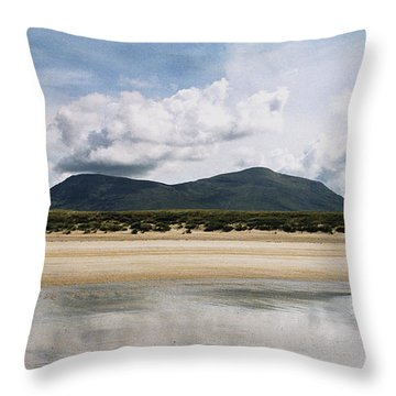 Throw Pillow featuring the photograph Beach Sky And Mountains by Rebecca Harman
