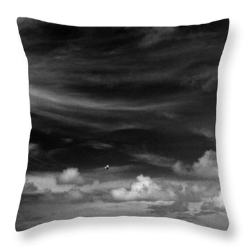 Throw Pillow featuring the photograph Beach Sky People by Christopher McKenzie