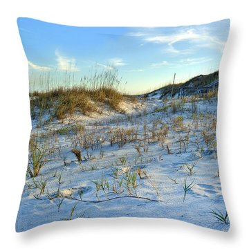 Beach Stairs Throw Pillow