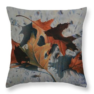 Throw Pillow featuring the painting Beach Still Life by Pamela Clements