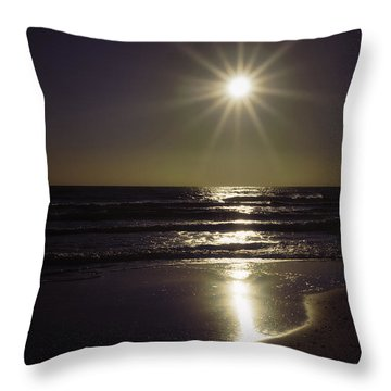 Beach Sun 2 Throw Pillow by Walt Foegelle