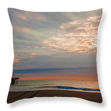 Beach Sunrise Surprise Throw Pillow