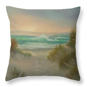 Cape Cod Beach Sunset Dunes Print  Throw Pillow