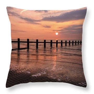Beach Sunset Throw Pillow by Ian Mitchell