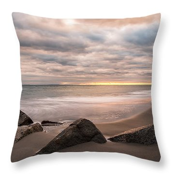 Throw Pillow featuring the photograph Beach Therapy by Anthony Fields