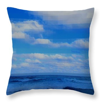 Beach Through Artificial Eyes Throw Pillow