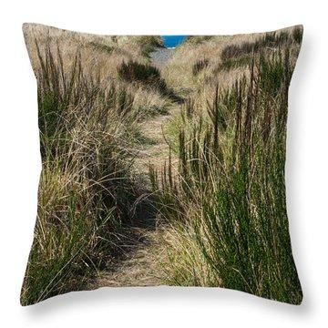 Beach Trail Throw Pillow by Tikvah's Hope