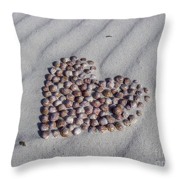 Beach Treasure Throw Pillow by Jola Martysz