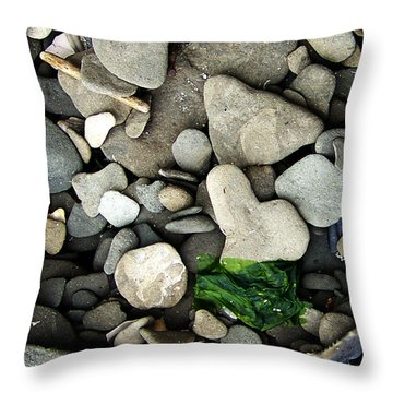 Beach Valentine Throw Pillow by Rebecca Sherman