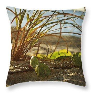 Beach Vine Throw Pillow