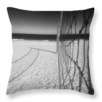 Beach Volleyball Net Throw Pillow