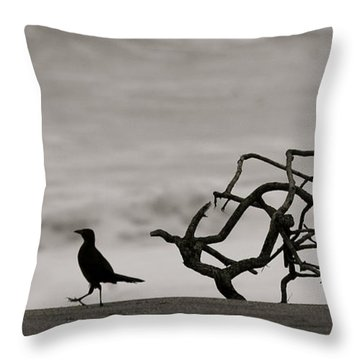 Beach Walk Throw Pillow
