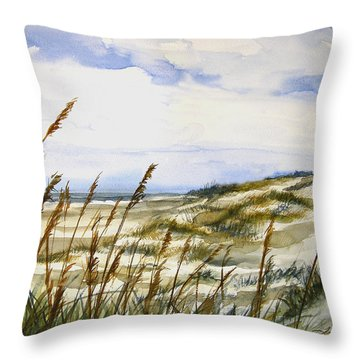 Beach Watercolor 3-19-12 Julianne Felton Throw Pillow