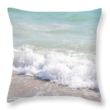 Throw Pillow featuring the photograph Surf And Sand by Margie Amberge