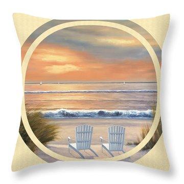 Beach World Throw Pillow by Diane Romanello