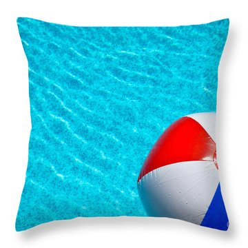 Beachball 1 Throw Pillow by Amy Cicconi