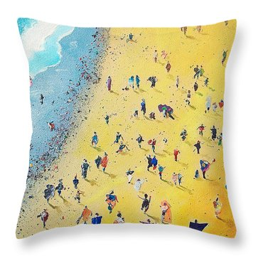 Beachcombing Throw Pillow by Neil McBride