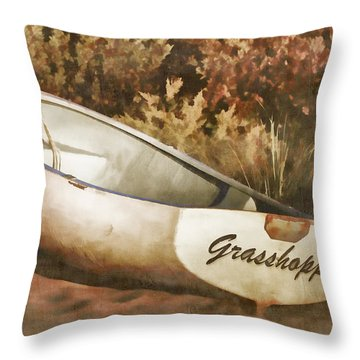 Beached Rowboat Throw Pillow
