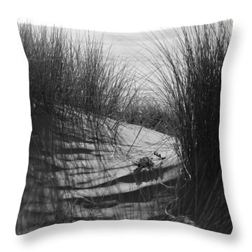Throw Pillow featuring the photograph Beachgrass by Adria Trail