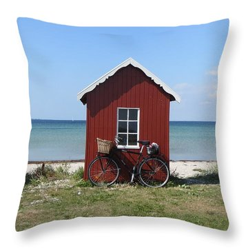 Beachhouse3 Throw Pillow