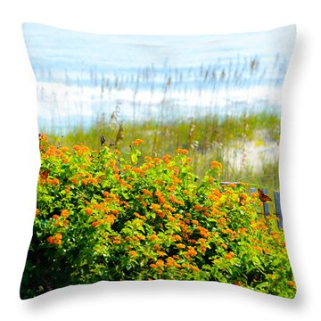 Beachy Butterflies  Throw Pillow