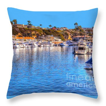 Throw Pillow featuring the photograph Beacon Bay - South by Jim Carrell