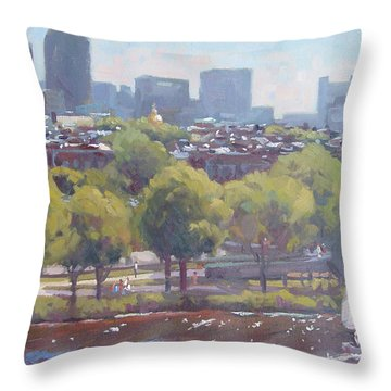 Beacon Hill Throw Pillow by Dianne Panarelli Miller