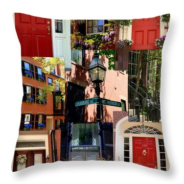Beacon Hill  Windows Doors And More Throw Pillow by Caroline Stella