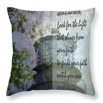 Beacon Of Hope Inspiration Throw Pillow