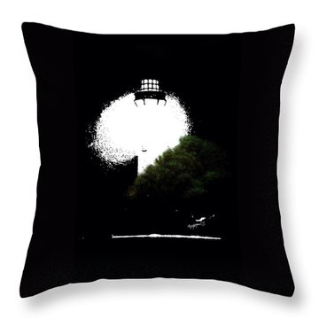 Beacon Of Light Throw Pillow by Anthony Fishburne