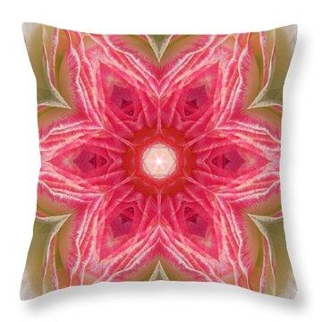 Beacon Of Light Rose Mandala Throw Pillow