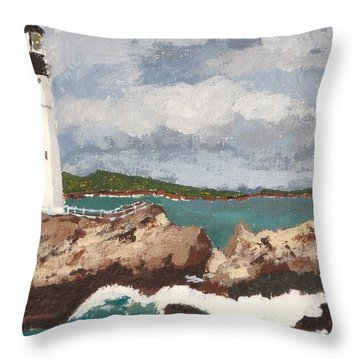 Beacon Of Love Throw Pillow by Cynthia Morgan