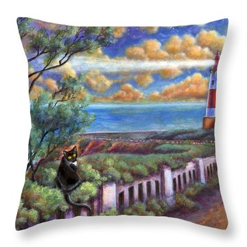 Beacons In The Moonlight Throw Pillow by Retta Stephenson