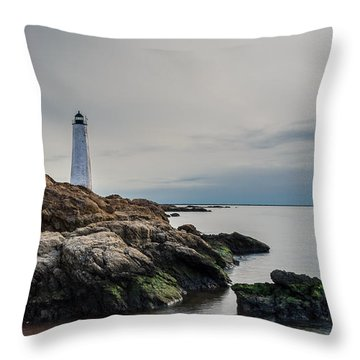 Beacons Of Yesteryear - Full Color Throw Pillow by Randy Scherkenbach