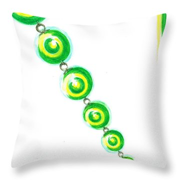 Beaded Chain Throw Pillow by Teresa White