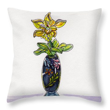 Throw Pillow featuring the painting Beaded Wonder by Julie Maas