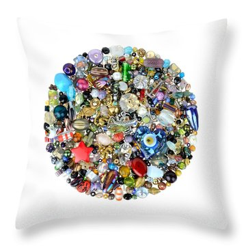 Beads And Charms Throw Pillow