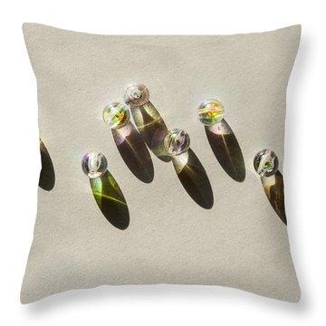 Beads Throw Pillow by Svetlana Sewell