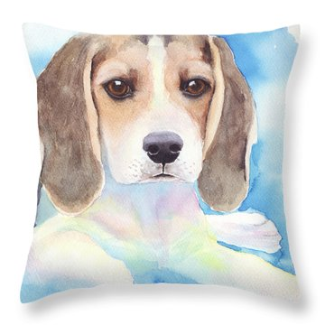 Beagle Baby Throw Pillow