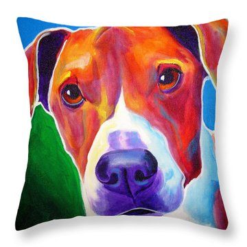 Beagle - Copper Throw Pillow by Alicia VanNoy Call