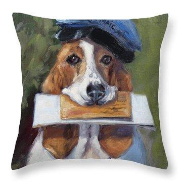 Beagle Mailman Throw Pillow