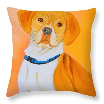 Beagle Pit Mix Throw Pillow