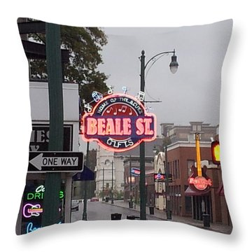 Throw Pillow featuring the photograph Beale Street by Kristen R Kennedy