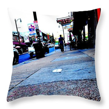 Beale Street Strolling Throw Pillow