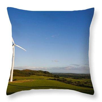 Beallough Windfarm, Above Portlaw Throw Pillow
